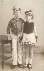 George Holden and sister